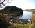 Boathouses on Hickling Broad, taken in early February.  Picture kindly supplied by Evelyn Simak